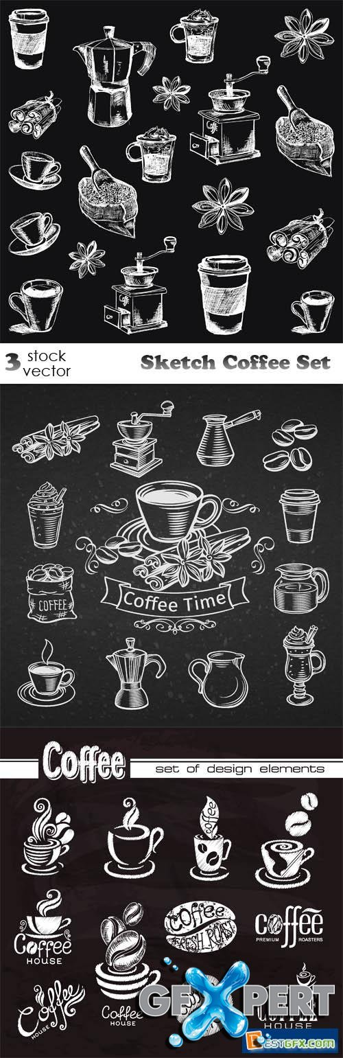 Vectors - Sketch Coffee Set
