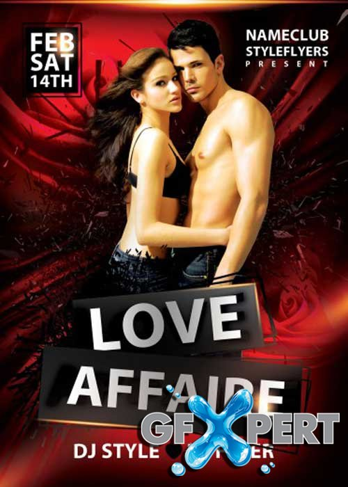 Love Affaire PSD V7 Flyer Template with Facebook Cover