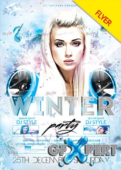 Winter Party PSD V11 Flyer Template