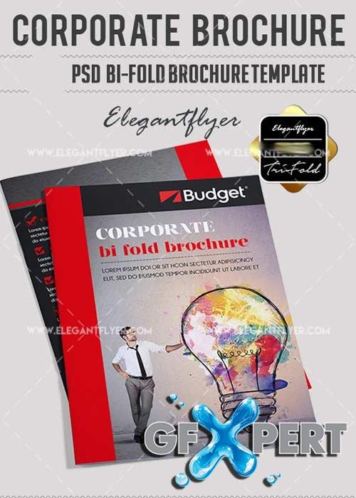 corporate bi fold brochure template - free corporate psd v12 bi fold psd brochure template download