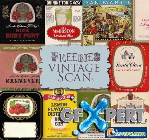 Scrap Kit - Vintage Labels of Alcohol Drinks