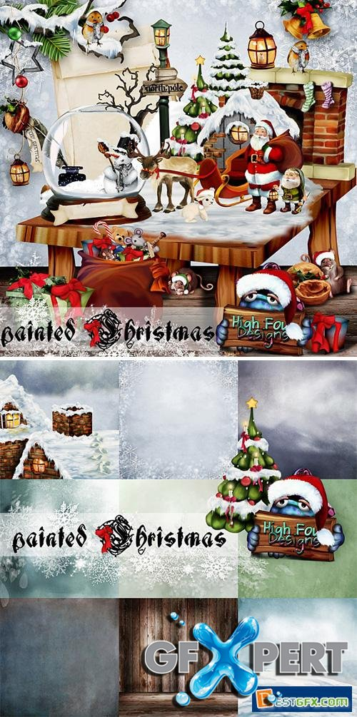 Scrap Kit - Painted Christmas