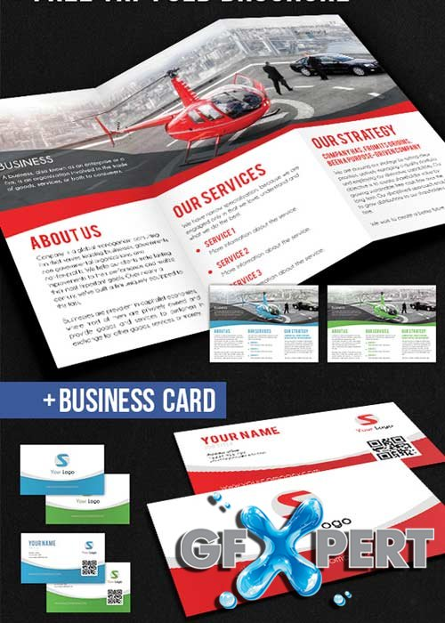 Corporate Tri-Fold Brochure PSD V3 Template