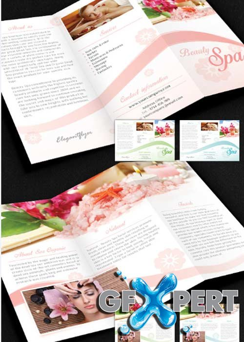 Beauty Spa Brochure Pack PSD V7 Template