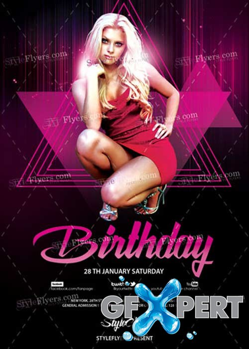 Birthday PSD V9 Flyer Template