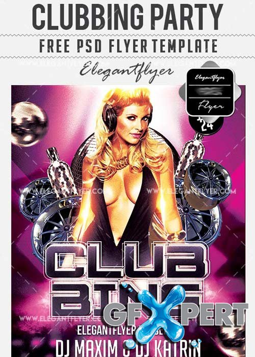 Clubbing Party Flyer PSD V16 Template + Facebook Cover