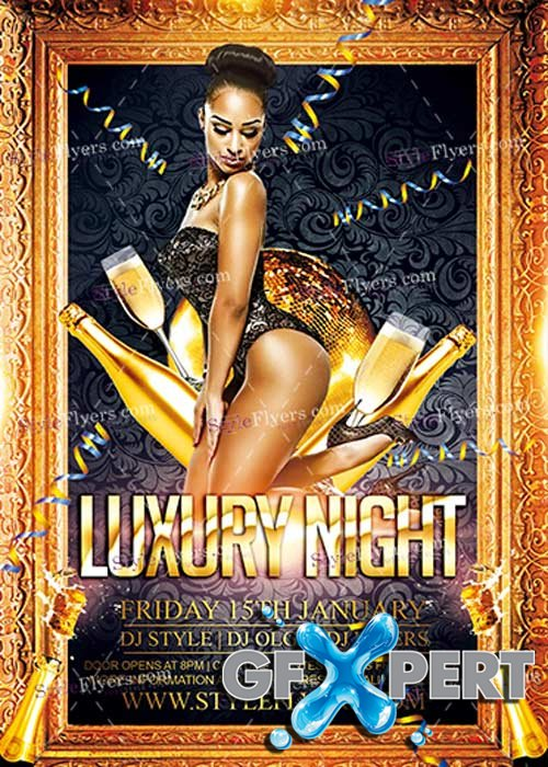 Luxury Night PSD V7 Flyer Template