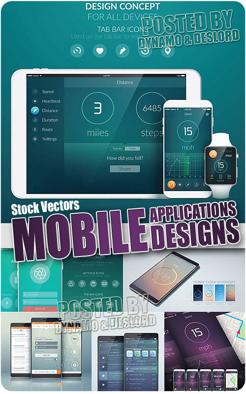 Mobile applacations - Stock Vectors