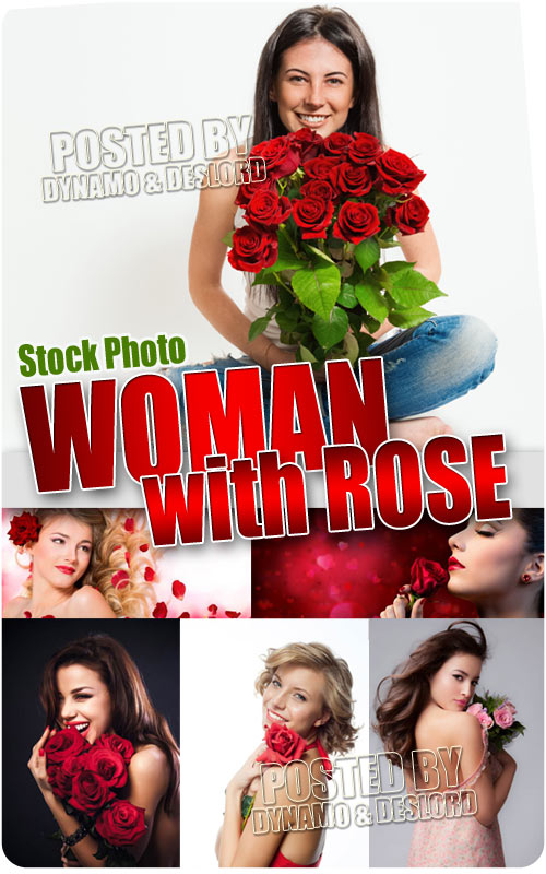 Woman with rose - UHQ Stock Photo