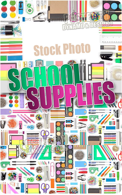 School supplies - UHQ Stock Photo