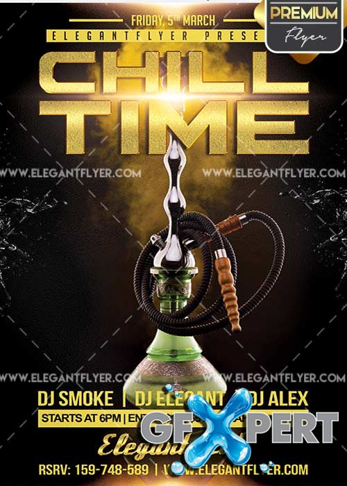 Chil Time Flyer PSD V2 Template + Facebook Cover