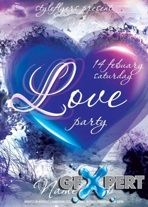 Love Party Club and Party Flyer PSD V16 Template