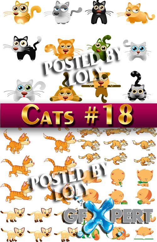 Cats #18 - Stock Vector