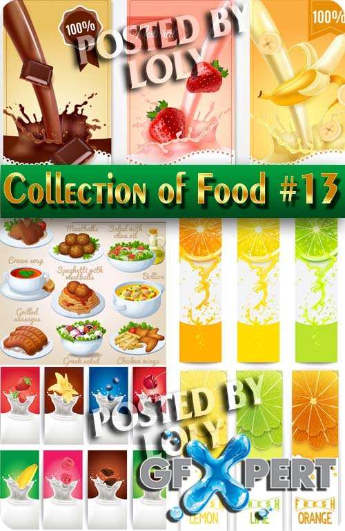Food. Mega Collection. Food #13 - Stock Vector