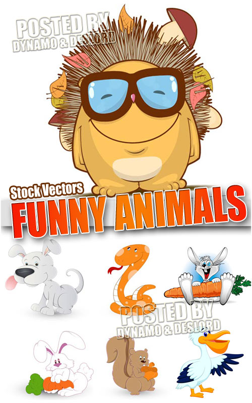 Funny animals for kids - Stock Vectors