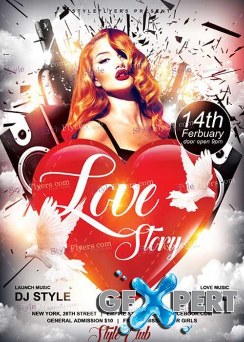 Love Story PSD V17 Flyer Template