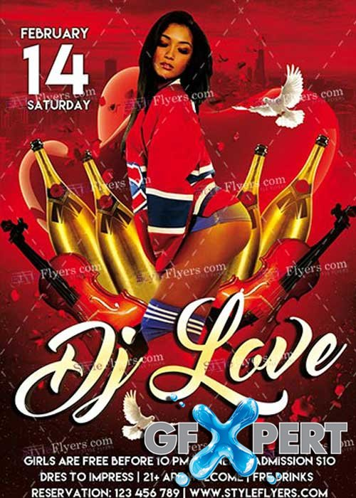 DJ Love PSD V12 Flyer Template