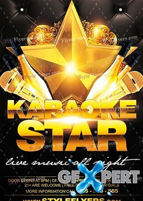 Karaoke Star PSD V16 Flyer Template