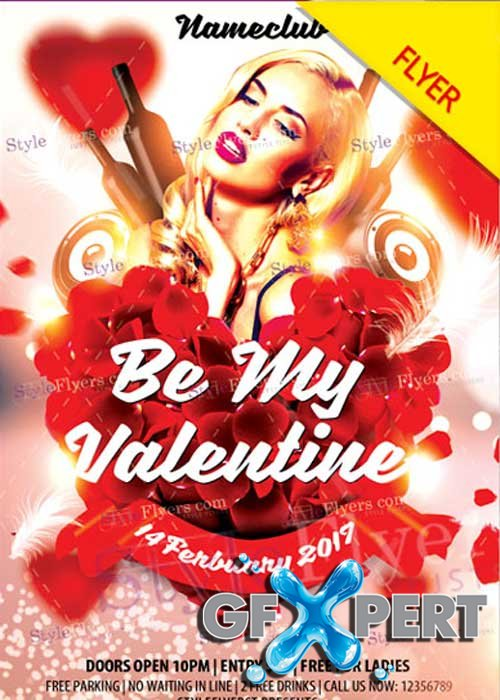 Be my Valentine PSD V13 Flyer Template