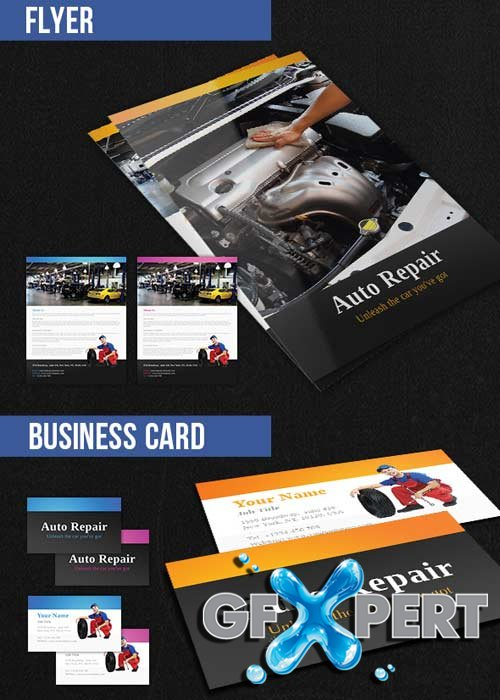 Auto Repair Brochure Pack PSD V9 Template