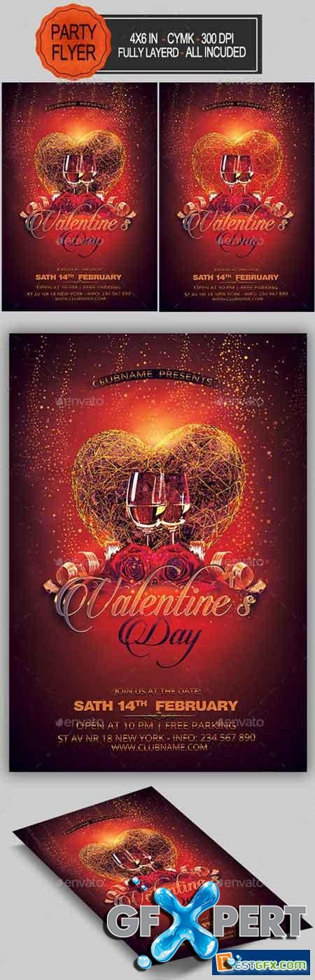 Valentines Party Flyer 19270040