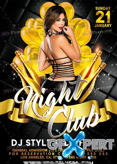 Nightclub PSD V14 Flyer Template
