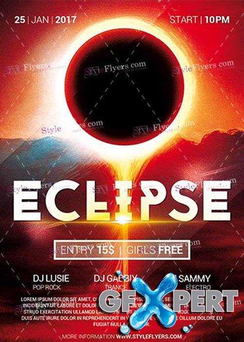 Eclipse PSD V14 Flyer Template