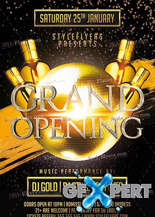 Grand Opening PSD V10 Flyer Template