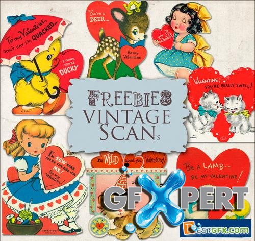 Scrap Kit - Retro Valentine's Day Cards