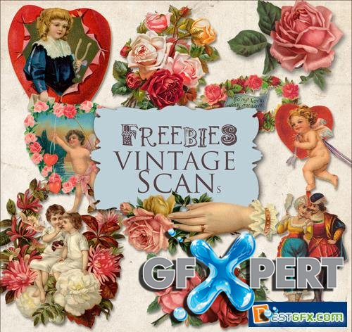 Vintage Scrap Kit - Valentine's Day Illustrations, part 2