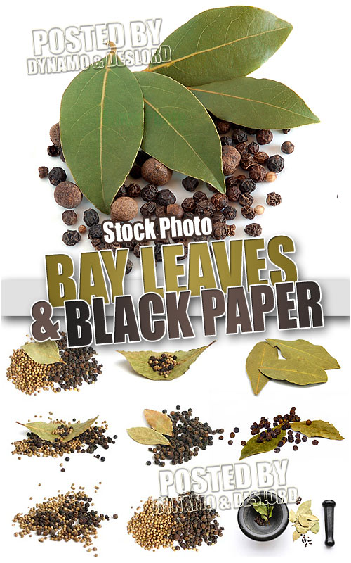 Bay leaves and black pepper - UHQ Stock Photo