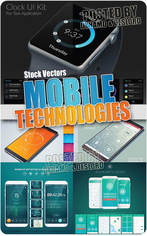 Mobile technologies - Stock Vectors