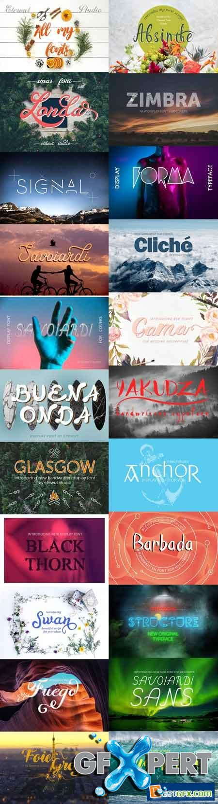 Creativemarket All my fonts bundle 1169455