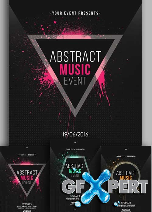 Abstract Music Event V7 Flyer Template