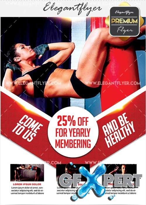 Fitness Classes V7 Flyer PSD Template + Facebook Cover