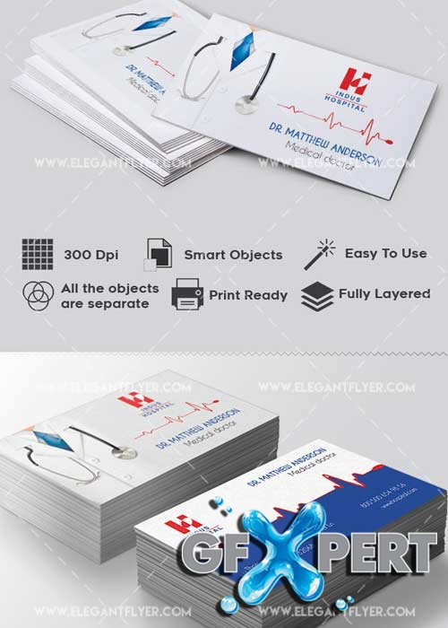 Doctor V1 Premium Business card PSD Template