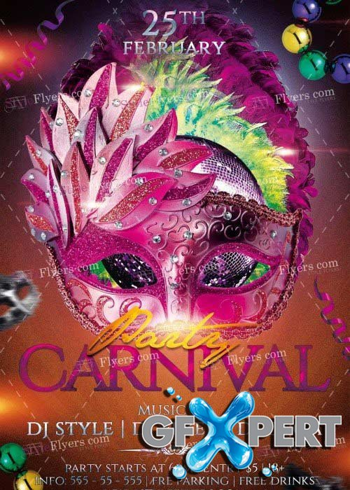 Carnival Party V8 PSD Flyer Template
