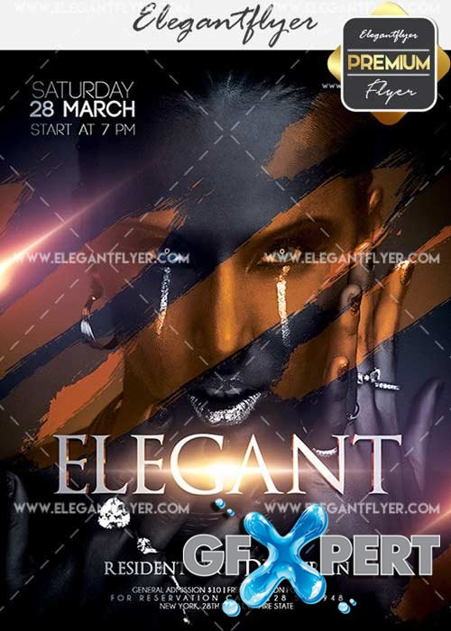 Elegant V9 Flyer PSD Template + Facebook Cover