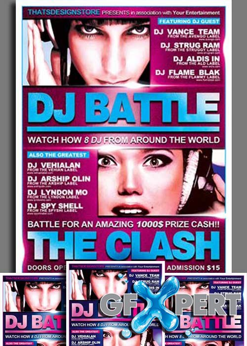 DJ Battle Flyer V2 Template
