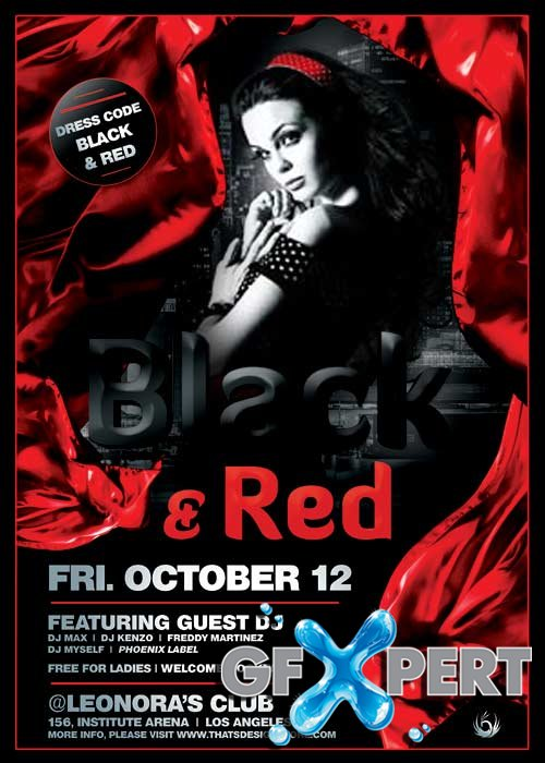 Black and Red V10 Flyer Template
