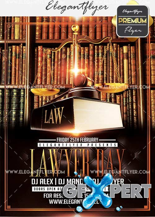 Lawyer Day V10 Flyer PSD Template + Facebook Cover