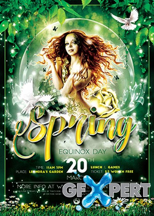 Spring Party V22 Flyer Template