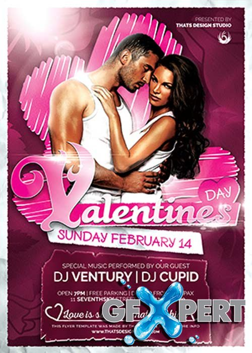Valentines Day Flyer Template V47