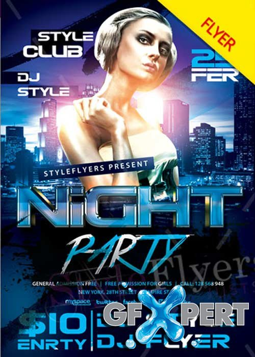 Night Party V14 PSD Flyer Template