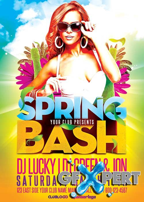 Spring Bash V12 Flyer Template