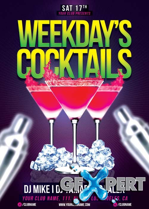Weekdays Cocktails V23 Flyer Template