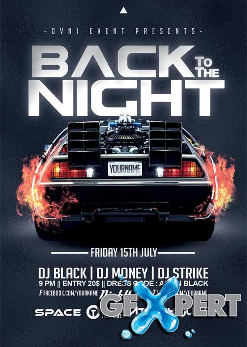 BACK TO THE NIGHT V10 Flyer Template