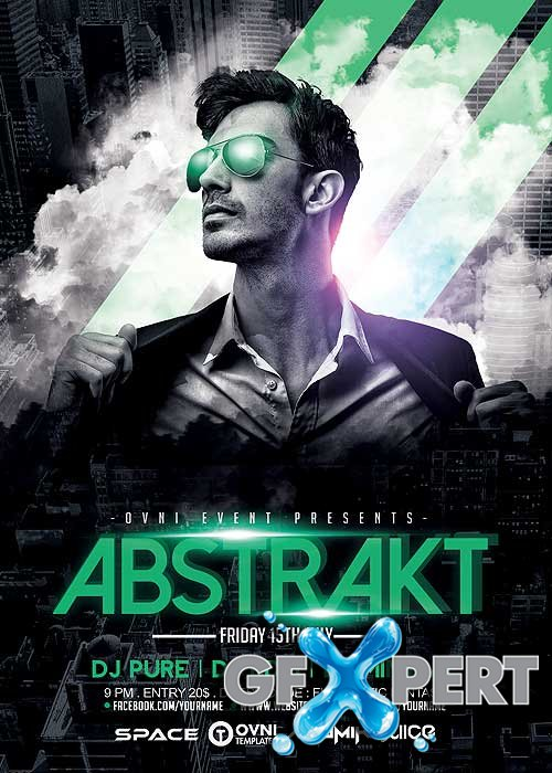 ABSTRAKT V20 Flyer Template