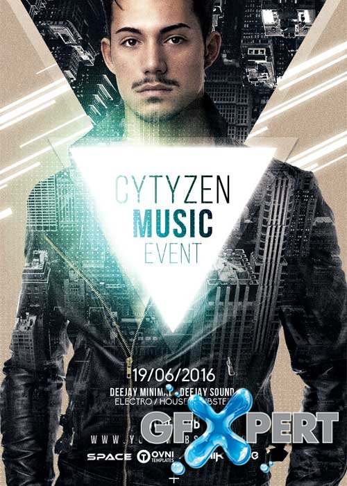 Citizen Music V12 Flyer Template