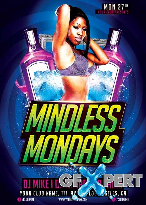 Mindless Mondays V8 Flyer Template